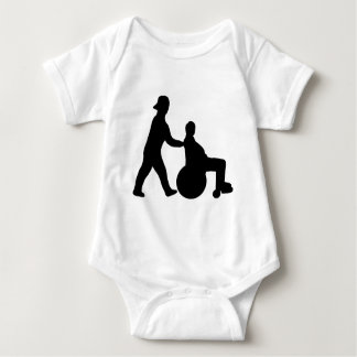 black nurse icon baby bodysuit