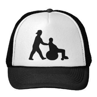 black nurse icon trucker hat