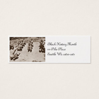 Black Nurses with Drill Instructor Mini Business Card