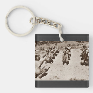 Black Nurses with Drill Instructor Single-Sided Square Acrylic Keychain