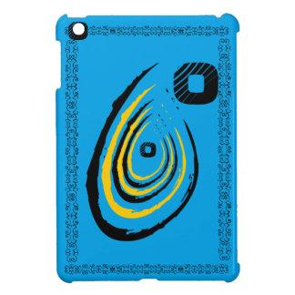 Black O ripple Glossy blue ipad mini case