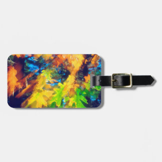 Black Oak Leaves blowing in the Wind Luggage Tag