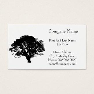 Black Oak Tree Design Business Card