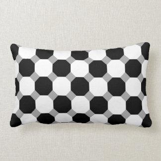 Black Octagon Tiled Pillows