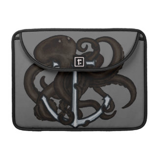 Black Octopus Over Anchor MacBook Pro Sleeves