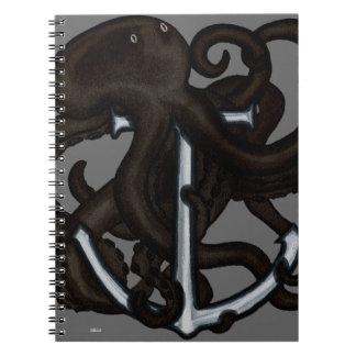 Black Octopus Over Anchor Journal