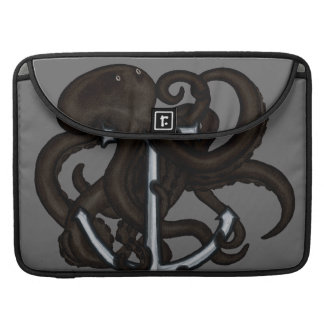 Black Octopus Over Anchor Sleeve For MacBook Pro