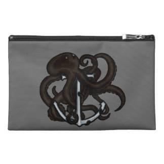 Black Octopus Over Anchor Travel Accessories Bag