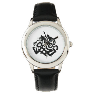 Black Odin and Sleipnir Wrist Watch