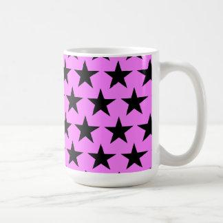 Black of star sample coffee mug