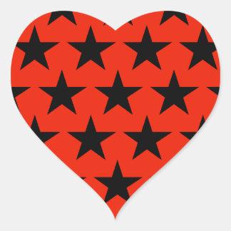 Black of star sample heart heart sticker