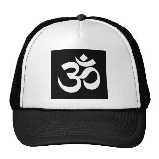 "Black  ""OHM"" Mystical Mantra Gifts by Sharles Trucker Hat"