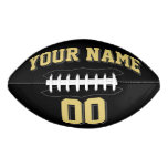 BLACK OLD GOLD AND CHARCOAL GRAY Custom Football