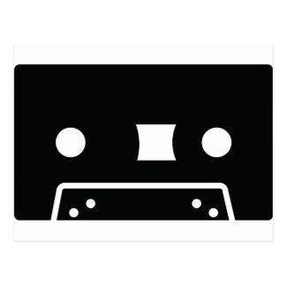 black oldschool tape icon postcard