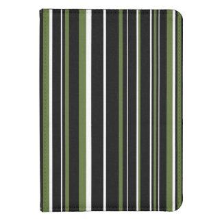 Black, Olive Green, White Barcode Stripe Kindle 4 Case
