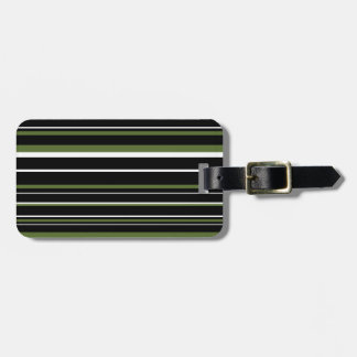 Black Olive Green White Barcode Stripe Tag For Luggage