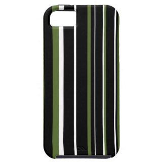 Black, Olive Green, White Stripe iPhone 5/5S Case