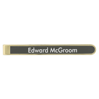 Black Olive Personalized Tie Bar