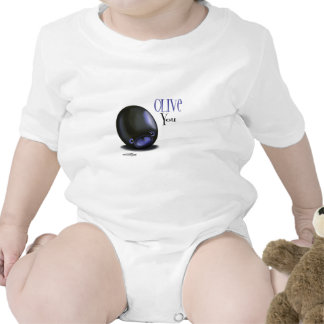 Black Olive you - I love you baby Tee Shirts