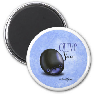 Black Olive you - I love you magnet