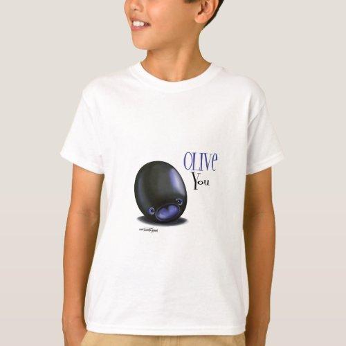 Black Olive you _ I love you t_shirt