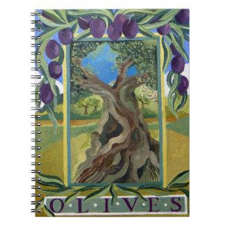 Black olives 2014 spiral notebook