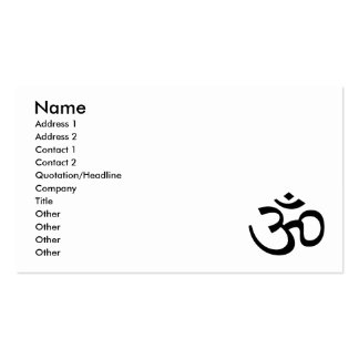 Black Om or Aum ॐ.png Business Card Template