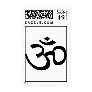 Black Om or Aum ॐ.png Postage Stamp