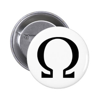 black omega icon button
