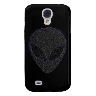 Black on Black Alien w/purple edge. Samsung Galaxy S4 Cover