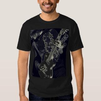 Black on Black guitar Tee Shirt