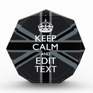 Black on Black  Keep Calm Get Your Text Union Jack Award