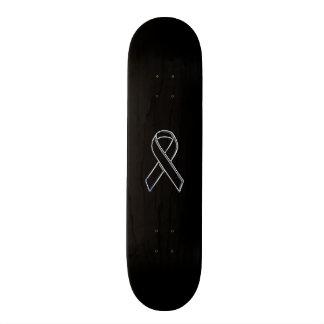 Black on Black Ribbon Awareness Skateboard Deck