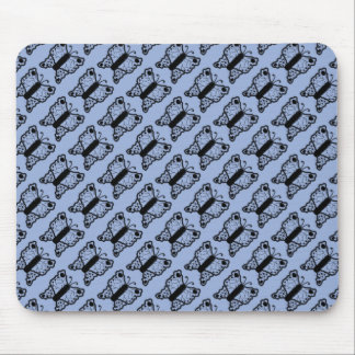 Black on Blue Butterfly Mouse Pad