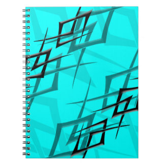"Black on Cyan ""Thorn"" Notebook"