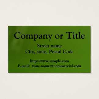Black On Gradient Green Business Card