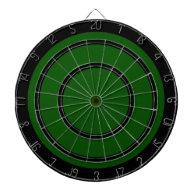 Black on Green Design Dart Board