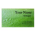 Black On Green Leaf Business Card Templates
