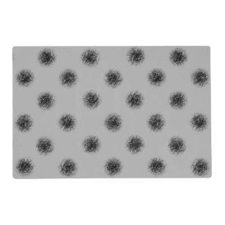 Black on Grey Sketchy Dots Placemat