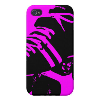 Black on Hot Pink Roller Derby Skate iPhone Case iPhone 4/4S Cover