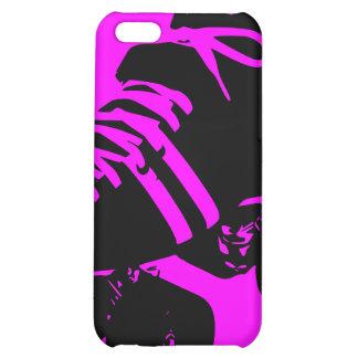 Black on Hot Pink Roller Derby Skate iPhone Case iPhone 5C Cases