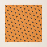 """Black on Orange F-15E Jet Patterned Scarf<br><div class=""""desc"""">Ideal for the fighter chick pilot,  wso or spouse,  add a little airpower to your wardrobe with this orange and black F-15E Strike Eagle patterned chiffon scarf. This makes the perfect Tigers First Friday,  Pink Flag,  fini-flight or spouse event accessory or a stylish welcome or farewell gift.</div>"""
