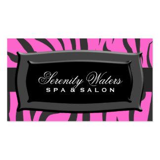 Black On Pink Zebra Stripes Business Card Template