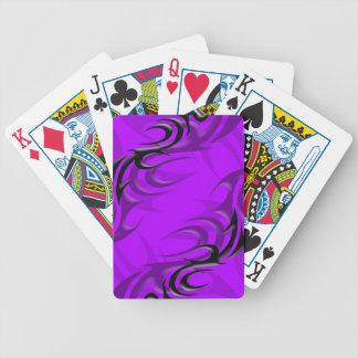 "Black on Purple ""Smoke"" Playing Cards"