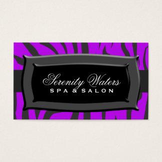 Black On Purple Zebra Stripes Business Card