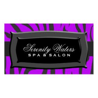 Black On Purple Zebra Stripes Business Cards