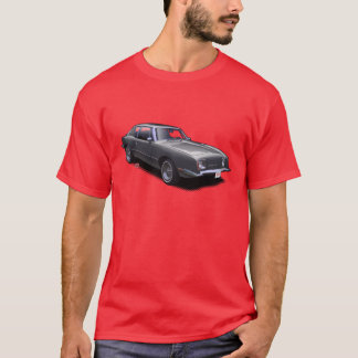 Black on Red AvanTee Classic American Car T-Shirt