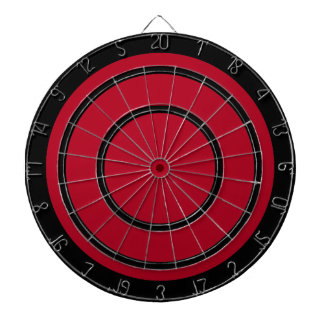 Black on Red Design Dart Board