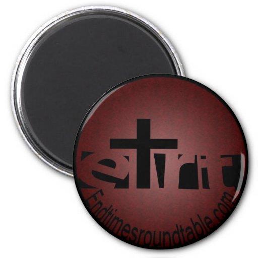 Black on Red Refrigerator Magnet