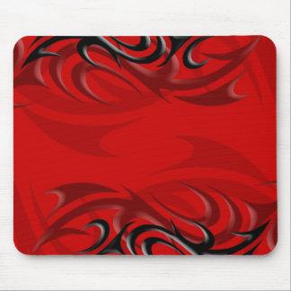 "Black on Red ""Smoke"" Mousepad"